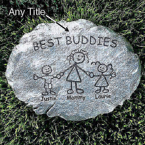 Personalized Family Character Stepping Stone