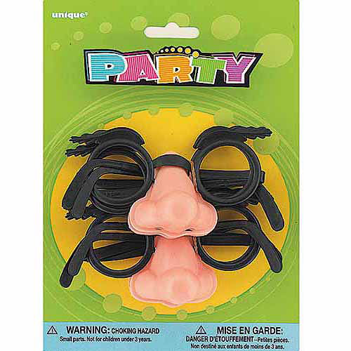 Groucho Glasses Party Favors, 4-Count