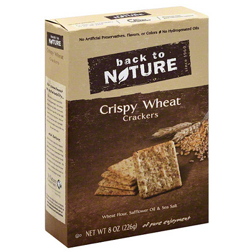 Back to Nature Crispy Wheat Crackers, 8 oz, (Pack of 6)