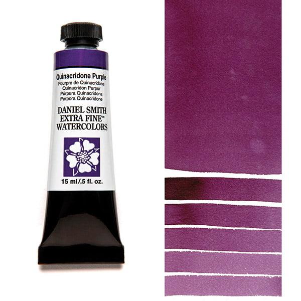 Daniel Smith Extra Fine Watercolors - Quinacridone Purple, 15 ml Tube