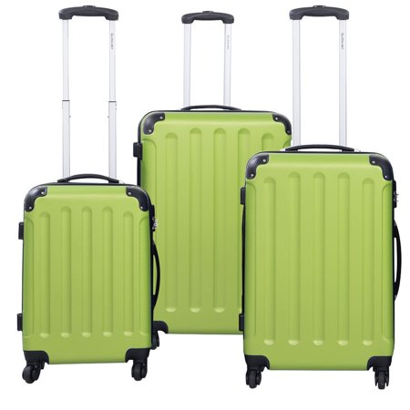 New Quality 3 Pcs Luggage Travel Set Bag ABS+PC Trolley Suitcase