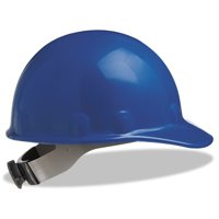 Fibre-Metal by Honeywell E-2 Cap Hard Hat With Ratchet Suspension, Blue
