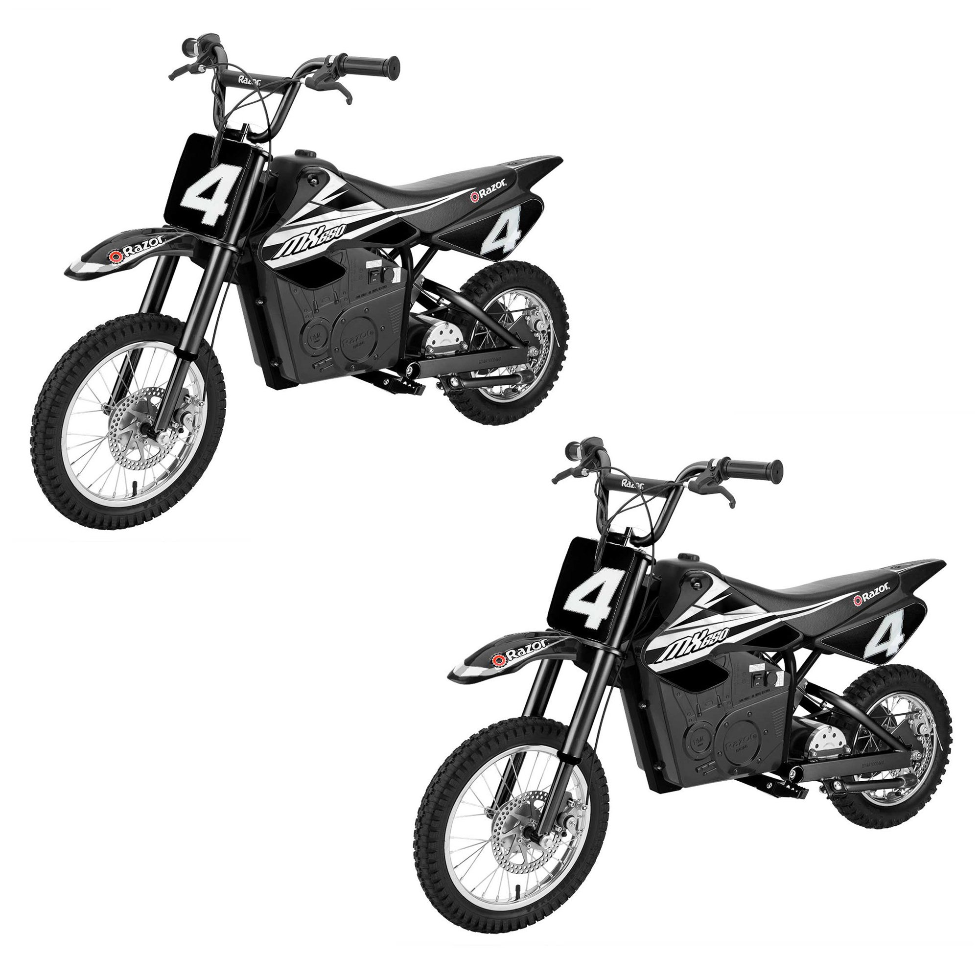 Razor MX650 Steel Electric Dirt Rocket Motor Bike for Teens 16+, Black (2 Pack)
