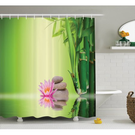 Isight Accessory (Spa Decor Shower Curtain Set, Zen Garden Asian Self-Control Freshening Insight In Daily Life Mindful Activity Relax Print, Bathroom Accessories, 69W X 70L Inches, By Ambesonne)