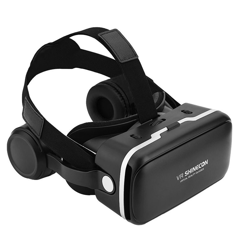 "For VR SHINECON Virtual Reality 3D VR Glasses w/ Earphone for 3.5""-6.0"" Android iOS Phones"