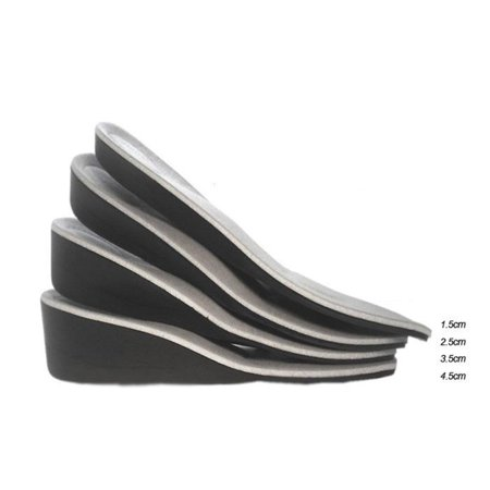 Men Women Invisible Heel Lift Taller Shoe Inserts Height Increase Insoles Pad 1.5CM