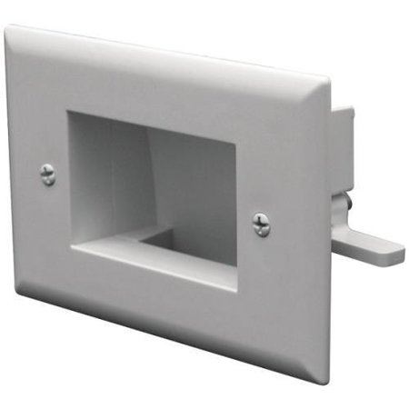 Datacomm Electronics 45-0008-WH Easy-Mount Recessed Low-Voltage Cable Plate, - Recessed Jack