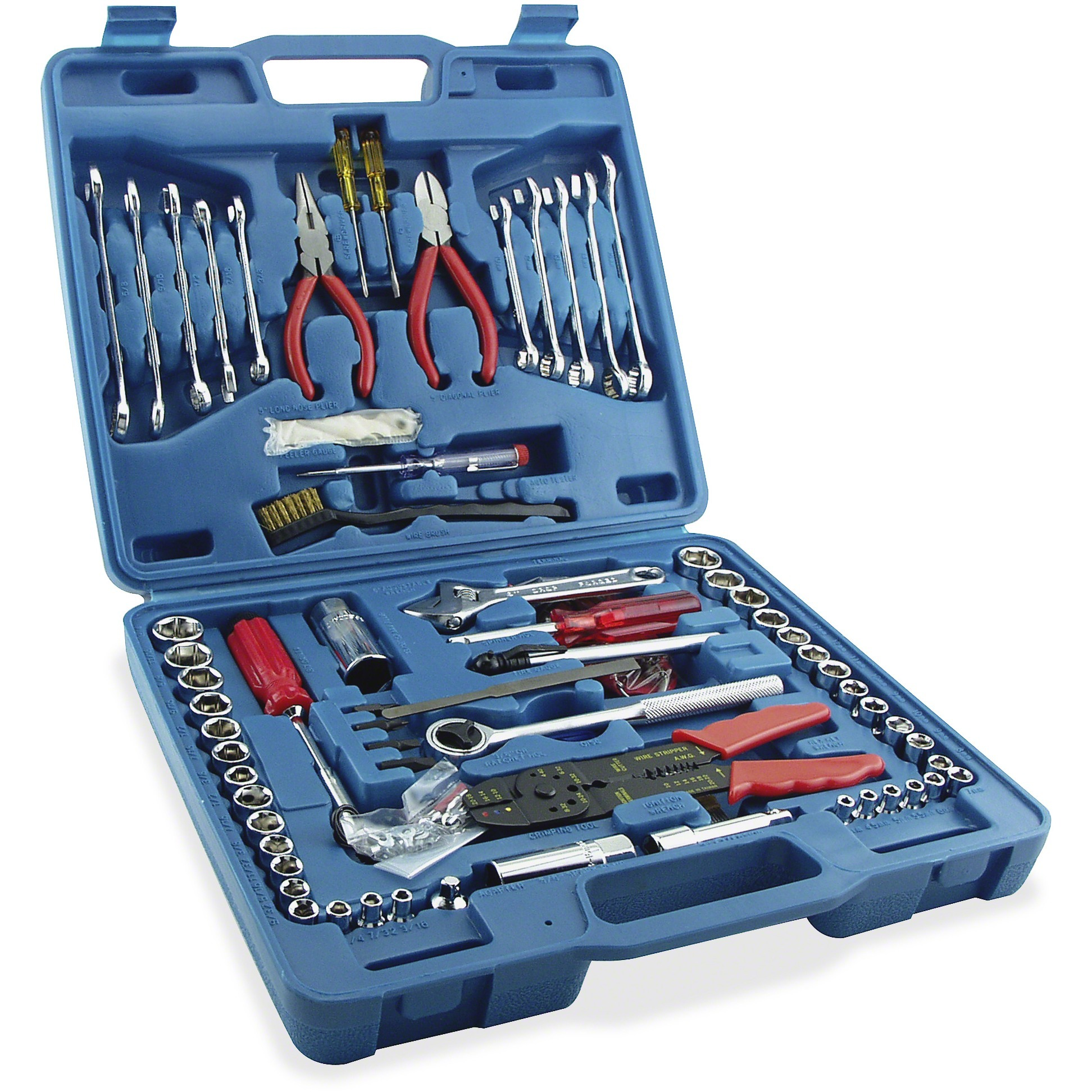 Great Neck, GNSTK119, Hardware Machinery 119-piece Tool Set, 1, Black