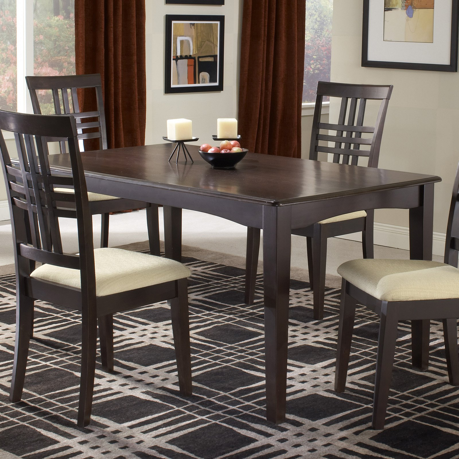 Hillsdale Tiburon 36 x 60 Fix Top Dining Table - Espresso ...