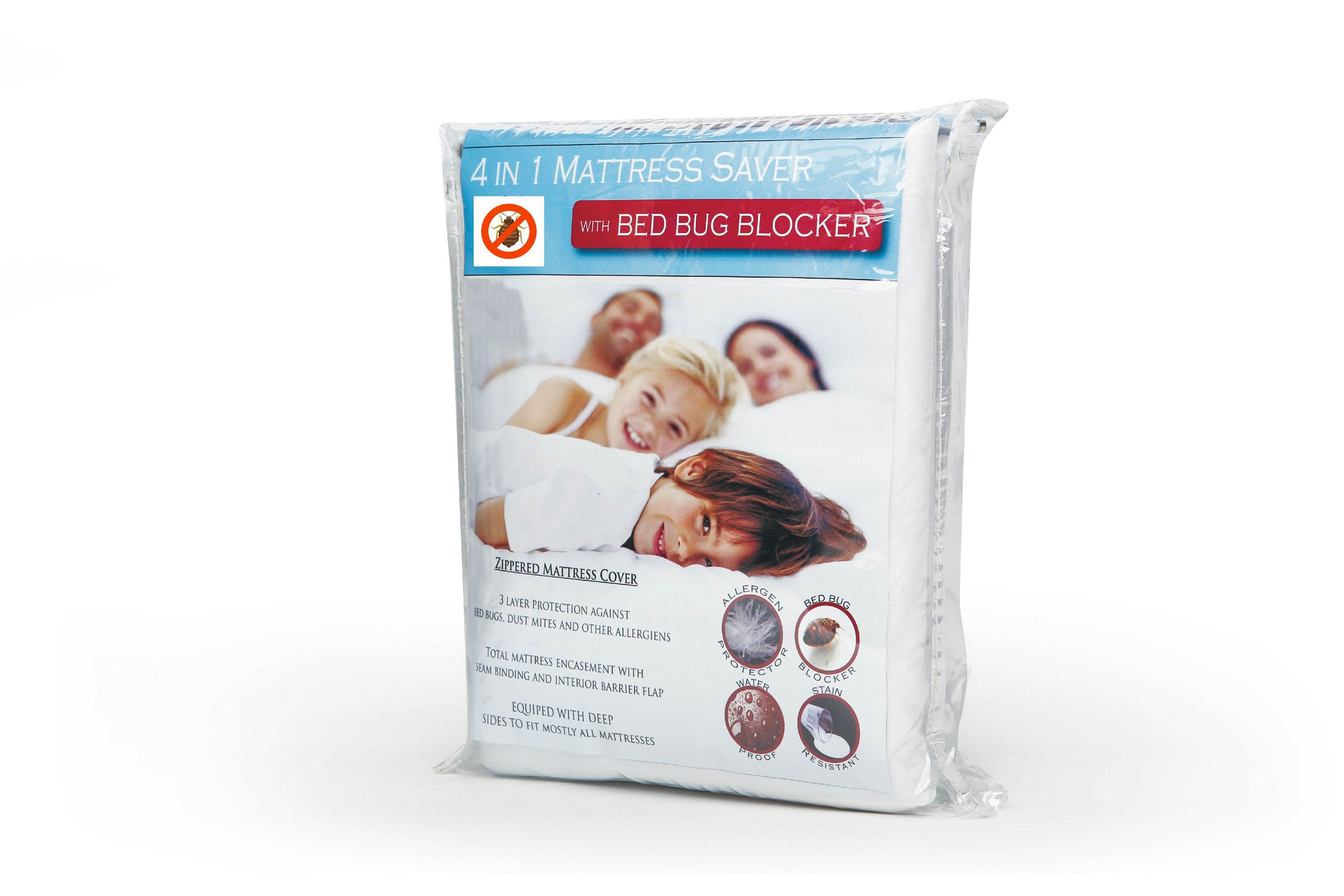 waterproof fabric bedbug zippered mattress cover protector full - Mattress Covers For Bed Bugs