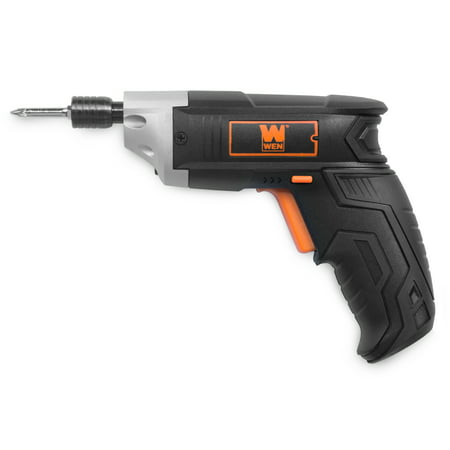 WEN 3.6V Lithium-Ion Cordless Electric Screwdriver with Bits and Belt