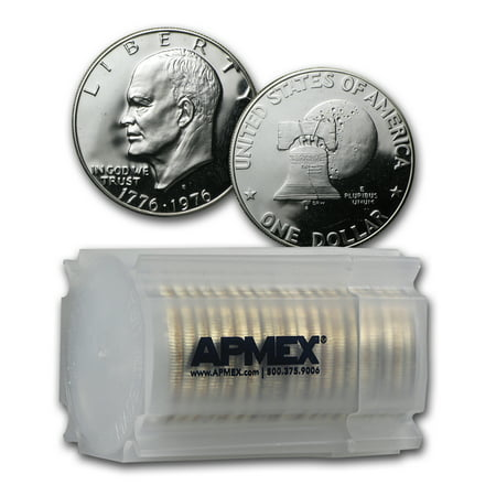 Silver Dollar Gem Proof (1976-S 40% Silver Eisenhower Dollar 20-Coin Roll Gem Proof)