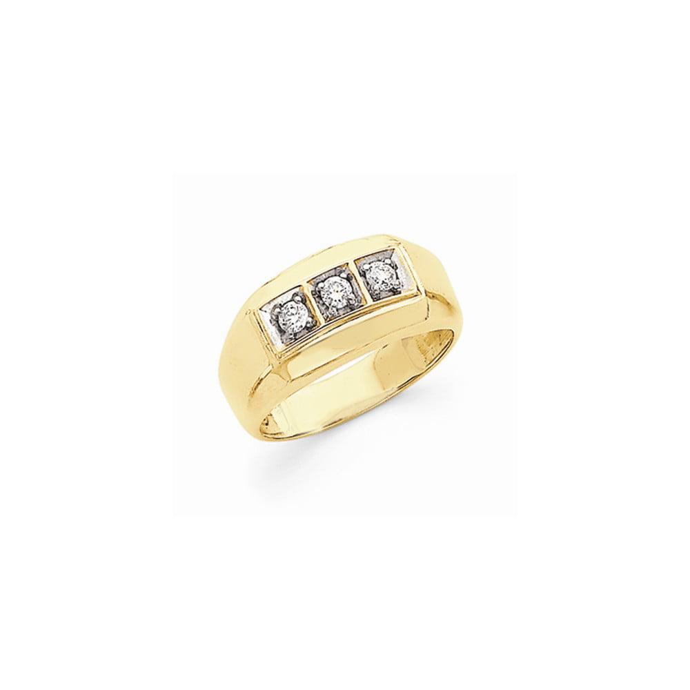 14 Yellow & Rhod Fine Brilliant Diamond men's Ring by Jewelrypot
