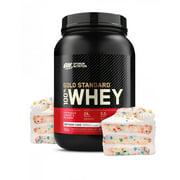 Optimum Nutrition Gold Standard 100% Whey Protein Powder, Birthday Cake, 24g Protein, 2 LB