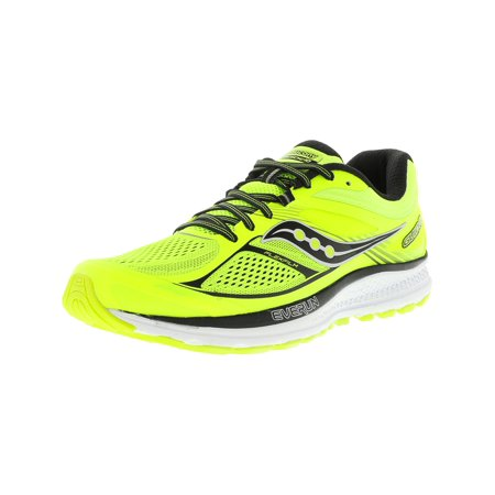 Saucony Men's Guide 10 Lime / Black Citron Ankle-High Running Shoe - 9.5M ()