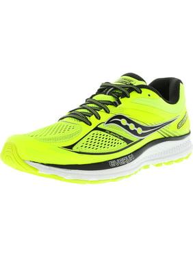 Saucony Men's Guide 10 Lime / Black Citron Ankle-High Running Shoe - 9.5M