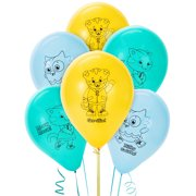 "Daniel Tigers Neighborhood Party Supplies - 12"" Helium Latex Balloon Decoration Package of 6"