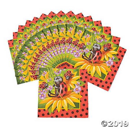 Ladybug Luncheon Napkins - Ladybug Napkins