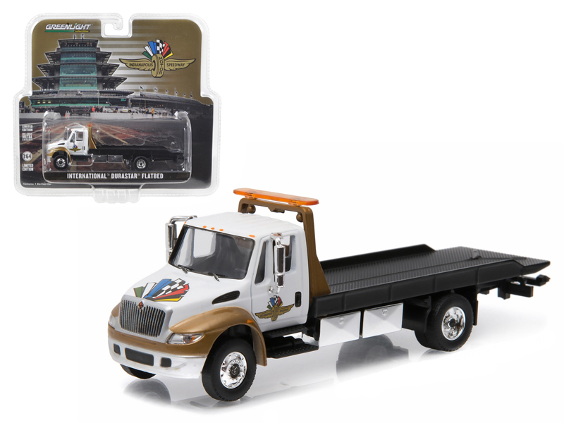 2016 International Durastar 4400 IMS Wheel, Wings, and Flag Flatbed Tow Truck White and... by GreenLight
