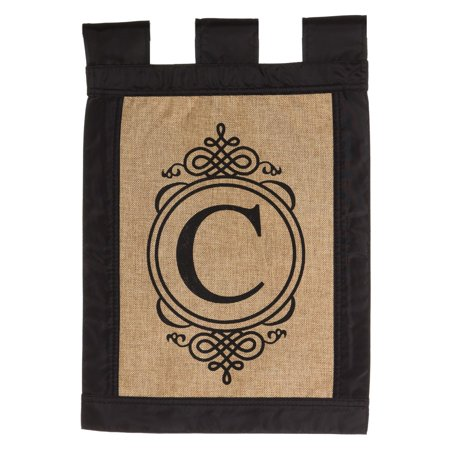 Evergreen Enterprises Burlap Monogram Garden Flag ()