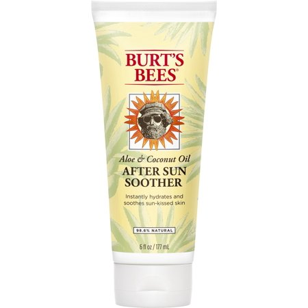 Burt's Bees Aloe And Coconut Oil After Sun Soother, Sunburn Relief Lotion - 6 Ounce Bottle ()