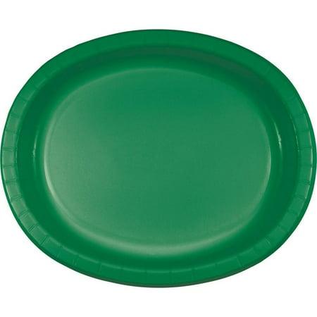 Green Medium Oval Platter (Creative Converting Emerald Green Oval Platter 10