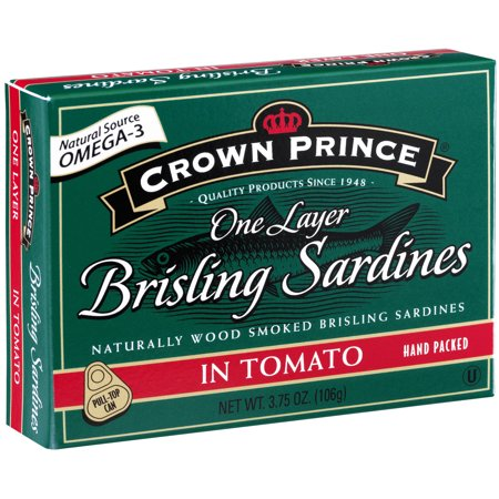 (2 Pack) Crown Prince 1-Layer Brisling Sardines In Tomato, 3.75 oz