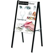 Testrite Visual Products AF22-B Outdoor Sign Frames 22 in.X28 in. Black A Frame