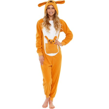One Piece Halloween (Silver Lilly Adult Slim Fit One Piece Cosplay Kangaroo Animal)