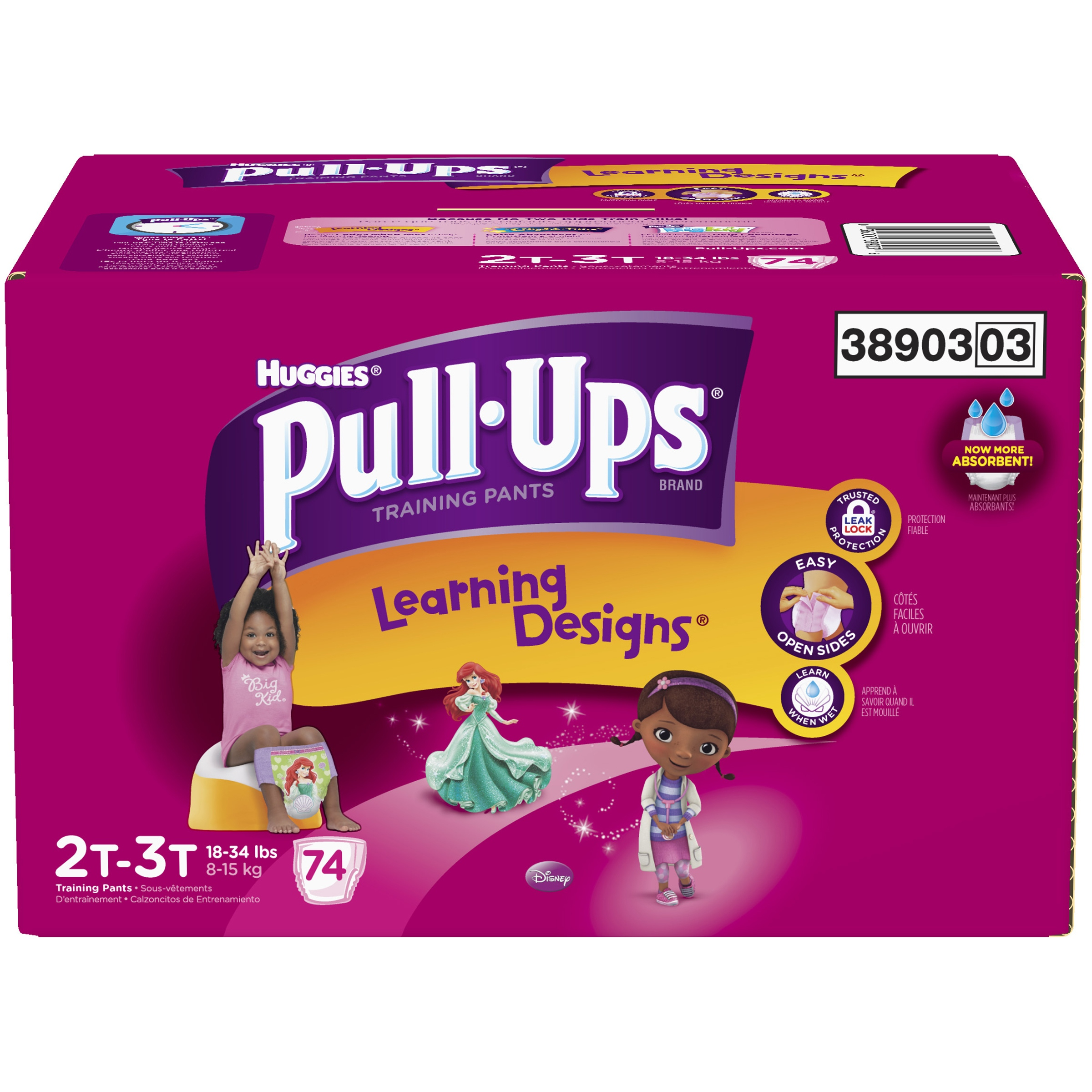 HUGGIES Pull-Ups Girls' Training Pants with Learning Designs, Jumbo Pack, (Choose Your Size)