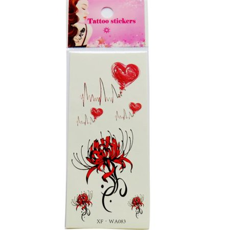 Waterproof Temporary Tattoos 3D Butterfly Flower Fake Tattoos Sticker