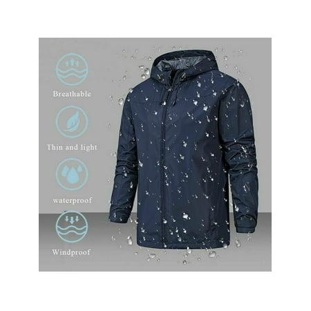 Mens Winter Warm Hiking Outerwear Waterproof Hooded Jacket Windbreaker Rain Coat