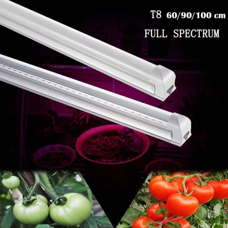 2ft LED Grow Light Full Spectrum T8 Tube Lamp Indoor Plant (Best Fluorescent Lights For Growing Plants)