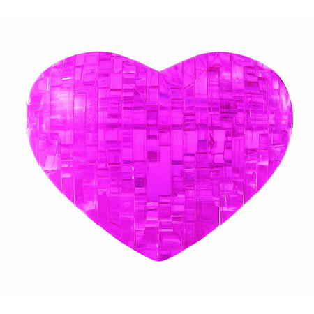Standard 3D Crystal Puzzle - Heart (pink)](Heart Puzzle)