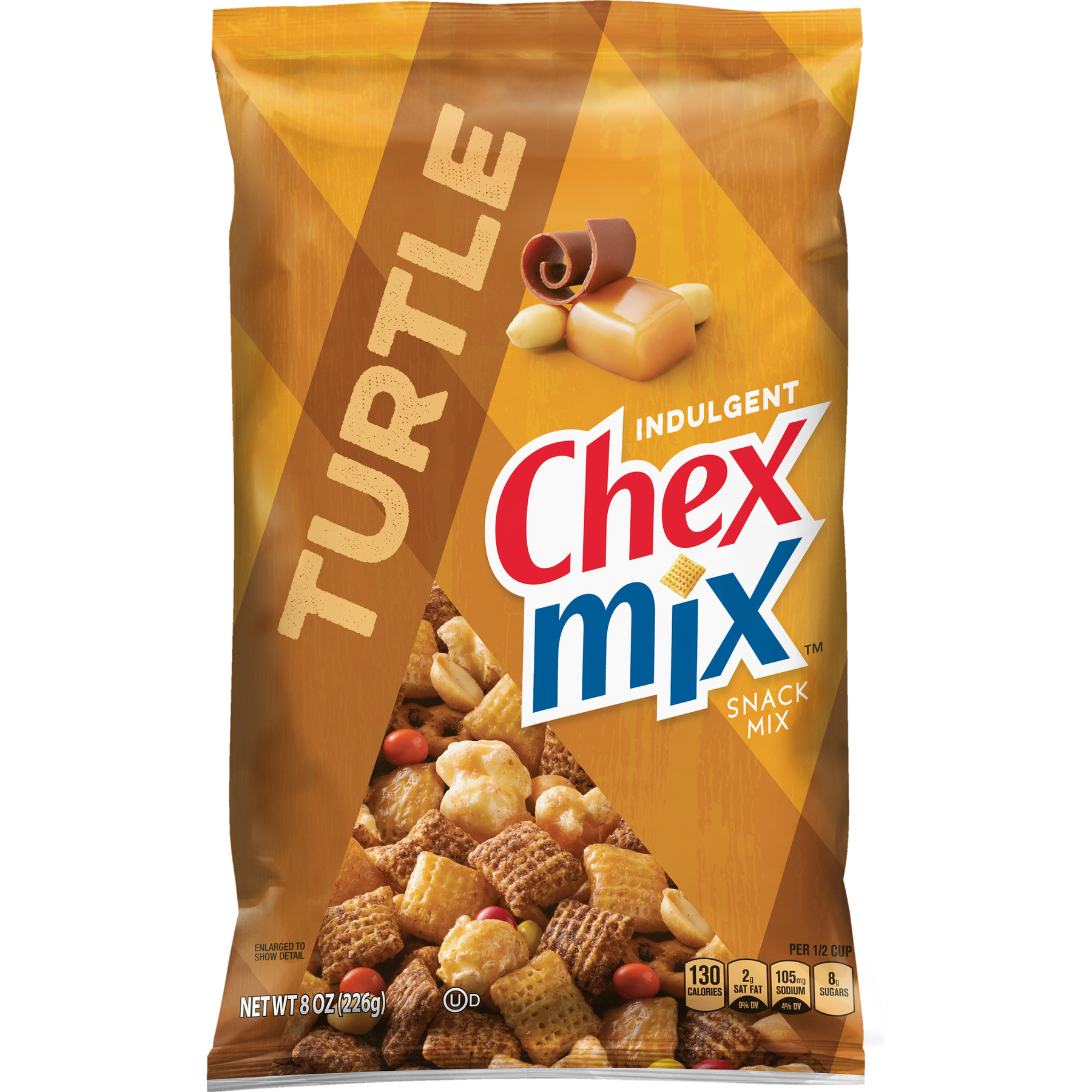 Chex Mix Turtle Snack Mix, 8 oz Bag