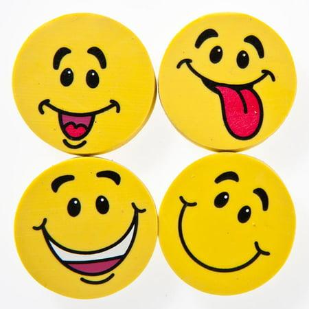 Yellow Smiley Face Erasers Walmartcom