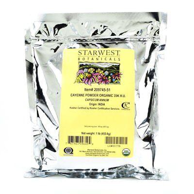Starwest Botanicals Organic Ground Cayenne Pepper Powder ...