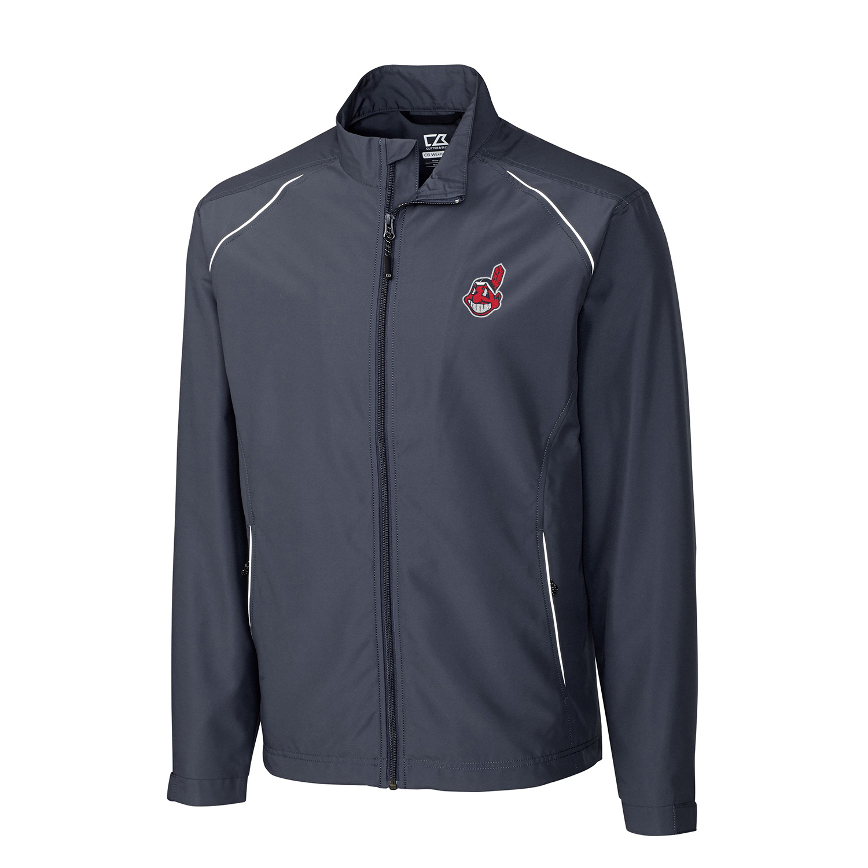 Cleveland Indians Cutter & Buck Beacon WeatherTec Full-Zip Jacket - Charcoal