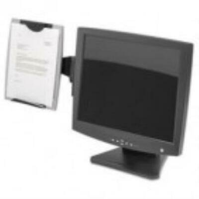 Fellowes Office Suites Monitor Mount - Fellowes Office Suites Monitor Mount Copyholder, Plastic, Holds 150 Sheets