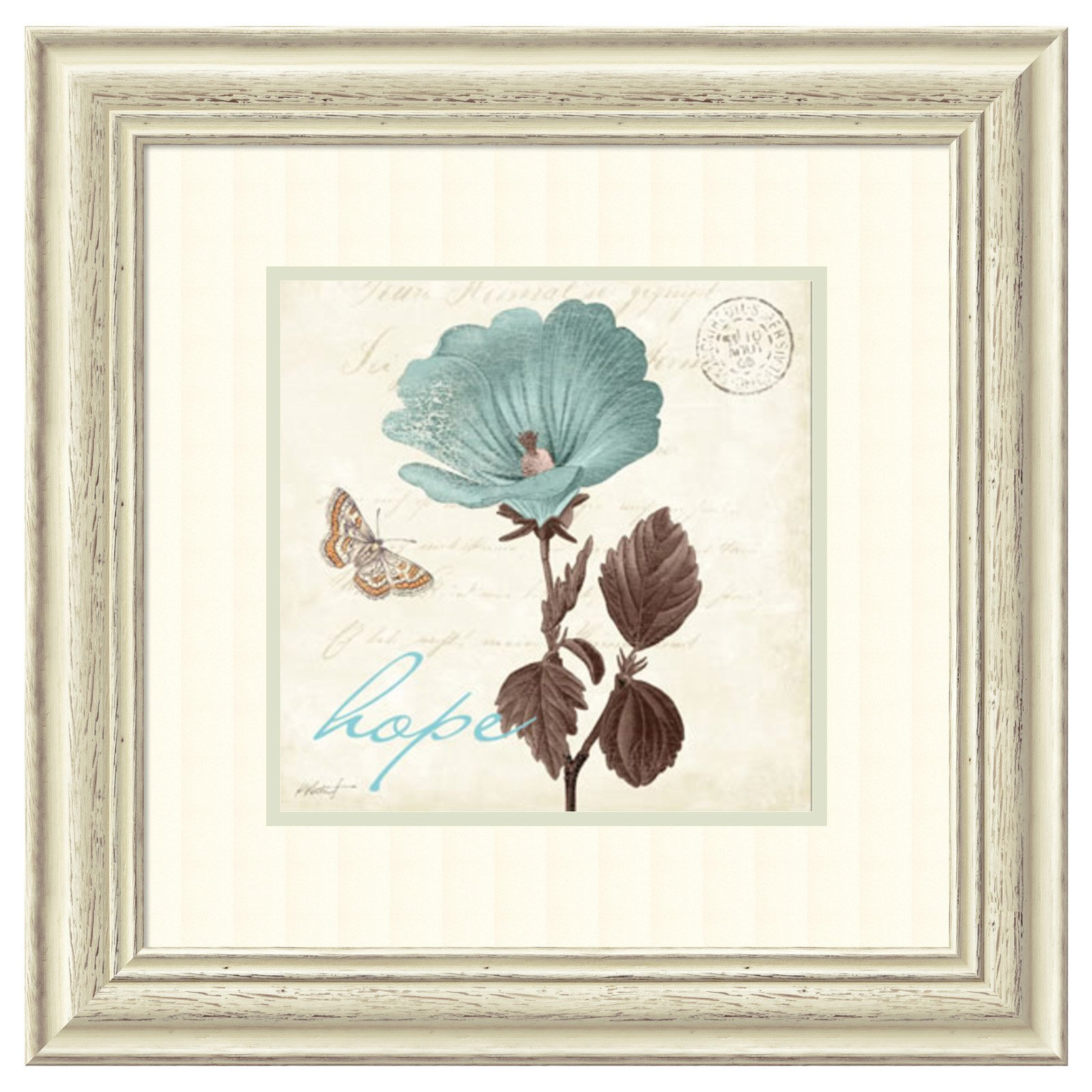 Amanti Art Framed Print - Touch of Blue III Hope by Katie Pertiet