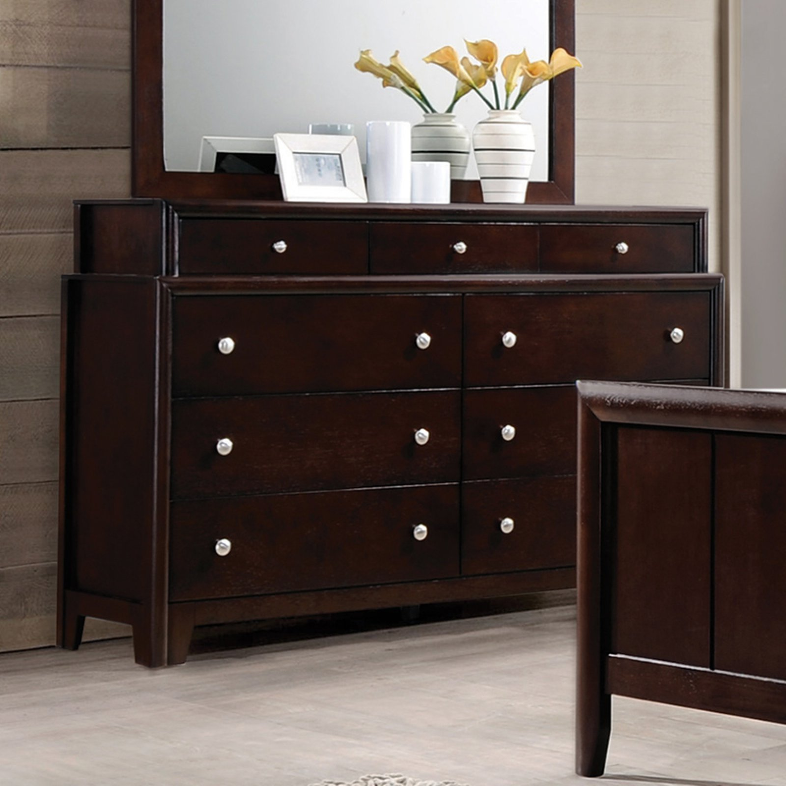 Coaster Madison Dresser, Dark Merlot