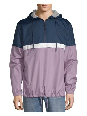 No Boundaries Half Zip Windbreaker, up to Size 5XL