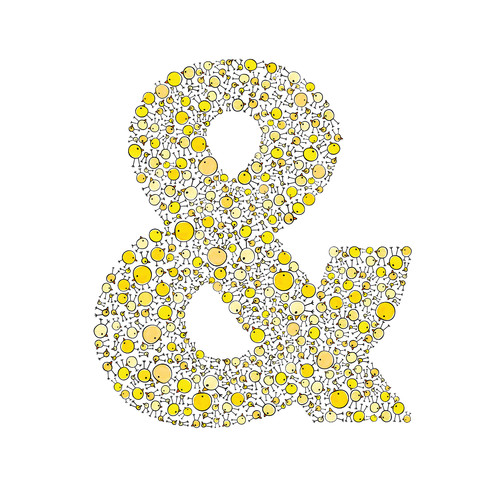 Cici Art Factory Lotsa Alphabet Art Chicks Ampersand Paper Print
