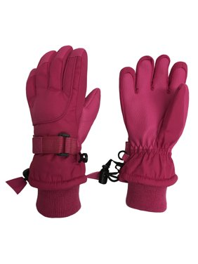 NICE CAPS Kids Cold Weather Waterproof Thinsulate Ski Gloves