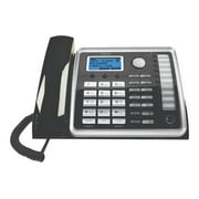 RCA ViSYS 25216 - Cordless phone with caller ID/call waiting - DECT 6.0 - 2-line operation - black, silver