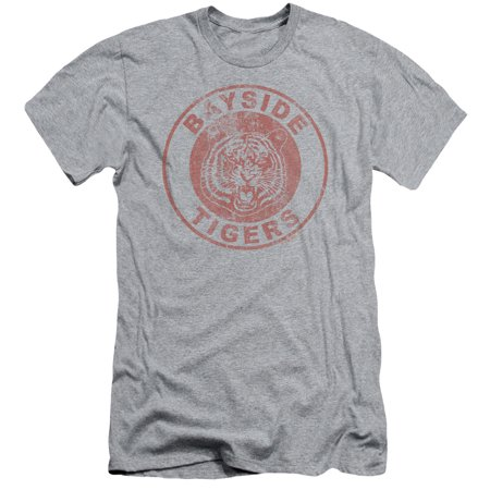 Trevco Saved By The Bell-Tigers Short Sleeve Adult 30-1 Tee, Heather - 2X Adult Short Sleeve Heather