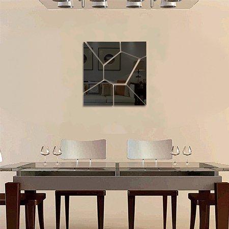 ❤ 6PCS Cute 3D Art Mirror Wall Sticker DIY & 7PCS Geometry Mirror Wall Sticker Acrylic Vinyl Flexible Removable Home View Window Decal Art Decor Mural ❤ - image 3 de 5
