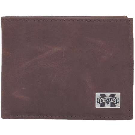 Mississippi State Bulldogs Leather Billfold with Concho - No Size