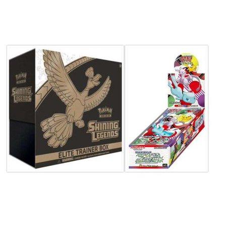 Pokemon Trading Card Game Shining Legends Elite Trainer Box + Japanese Shining Legends Booster Box Bundle, 1 of Each
