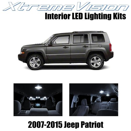 Red Interior Led Package (XtremeVision LED for Jeep Patriot 2007-2015 (6 Pieces) Pure White Premium Interior LED Kit Package + Installation Tool )